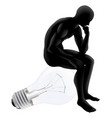 thinker looking for an idea vector image vector image