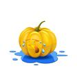 Weeping pumpkin vector image