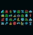wildfire icons set neon vector image vector image