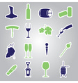 wine stickers icon set eps10 vector image vector image