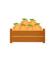 wooden box with peach boxwith vector image