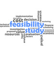 word cloud feasibility study vector image vector image