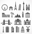 World famous signts abstract silhouettes vector image