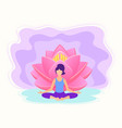 yoga fitness concept vector image