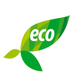 Abstract eco logo with green leaves vector image