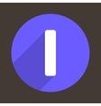 Letter I Logo Flat Icon Style vector image