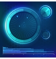 Futuristic user interface HUD element vector image