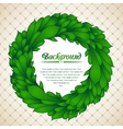 Floral wreath of green leaves vector image