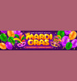 advertising banner template for mardi gras vector image vector image