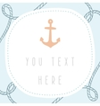 Anchor greeting card template vector image vector image
