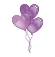 balloons air with heart shape vector image vector image