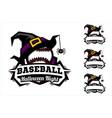 baseball ball halloween logo vector image