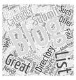 Blogging Directories Great Advertising Venues Word vector image vector image