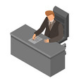 boss at workplace icon isometric style vector image vector image