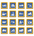building vehicles icons set blue vector image vector image