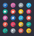 business and investment simple color icons vector image vector image