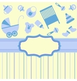 Card for newborn boy vector image