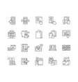 catalog line icons signs set outline vector image vector image