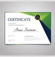 Certificate - horizontal elegant document vector image
