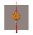 chinese lucky knot tassel hanging mascot decor vector image vector image