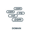 domain icon thin outline style design from web vector image