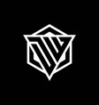 dw logo monogram with triangle and hexagon shape vector image vector image