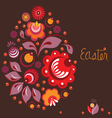 easter greeting card in national russian style vector image vector image
