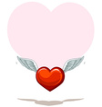 Empty heart template vector image
