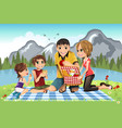 family picnic vector image