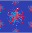 fireworks night sky seamless pattern happy vector image