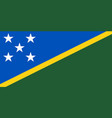 flag of solomon islands official colors and vector image