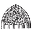 flamboyant tracery gothic architecture vintage vector image vector image