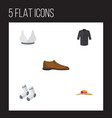 flat icon clothes set of brasserie foot textile vector image vector image