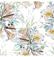 floral pattern with many kind flowers vector image vector image