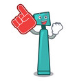 foam finger otoscope mascot cartoon style vector image