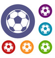 football soccer ball icons set vector image vector image
