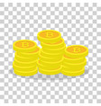 golden bitcoins virtual currency ecash vector image