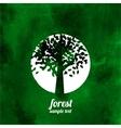 Green tree watercolor vector image vector image