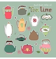 Hand drawn teapots and kettles vector image