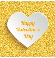 Happy Valentines Day Greeting Card with 3d White vector image