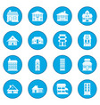 houses icon blue vector image vector image