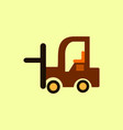 in flat style forklift truck vector image vector image