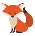 Isolated fox cartoon design vector image