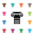 isolated ornate icon pedestal element can vector image vector image