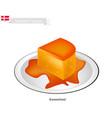 karamelrand or creme caramel vector image vector image