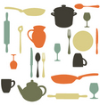 kitchen items vector image