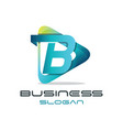 letter b media logo vector image vector image