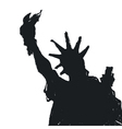liberty statue silhouette vector image vector image