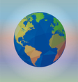 Map of the world on blur background vector image vector image