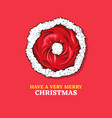 merry christmas 2020 greeting card color template vector image